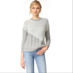NWT CURRENT ELLIOT The Mixed Cable Sweater Size 1